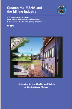 MSHA - Courses for MSHA and the Mining Industry (Course Catalog)