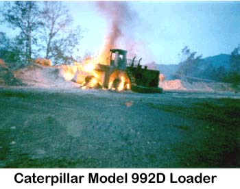 Picture of Loader in flames